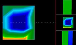 La chambre principale, peut-être une crypte, découverte le 17 avril 2012 par résonances électromagnétiques.