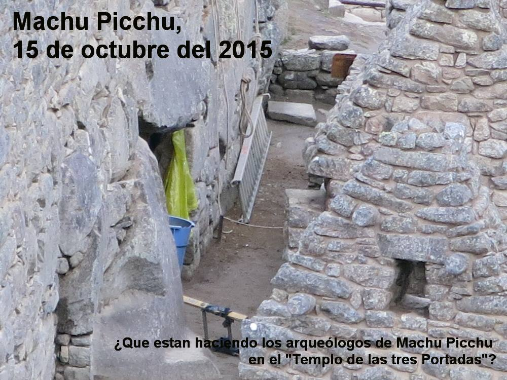 2015/10/15 – ALERT: Archaeologists dig near the door